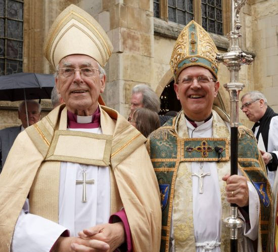 Bishop John Waine with Bishop Martin Seeley.